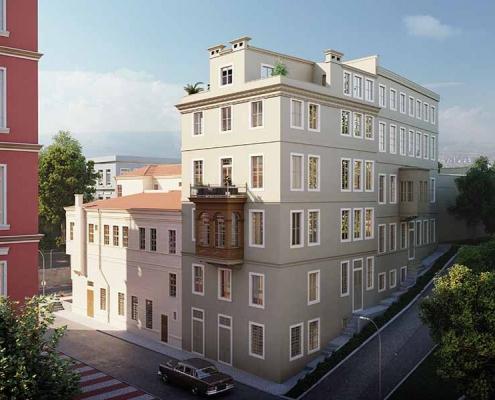 Tomtom Flats Siska İnşaat Beyoğlu Restorasyon Konut